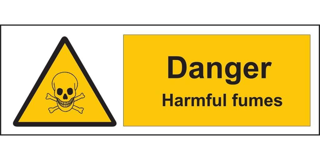 words - danger harmful fumes